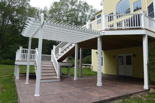 Image Patio area: stamped co...