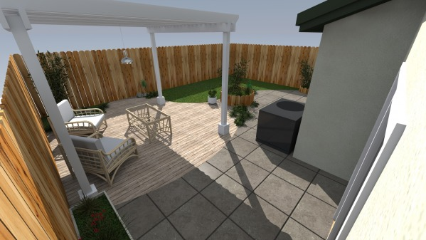 Image Small Backyard Makeover
