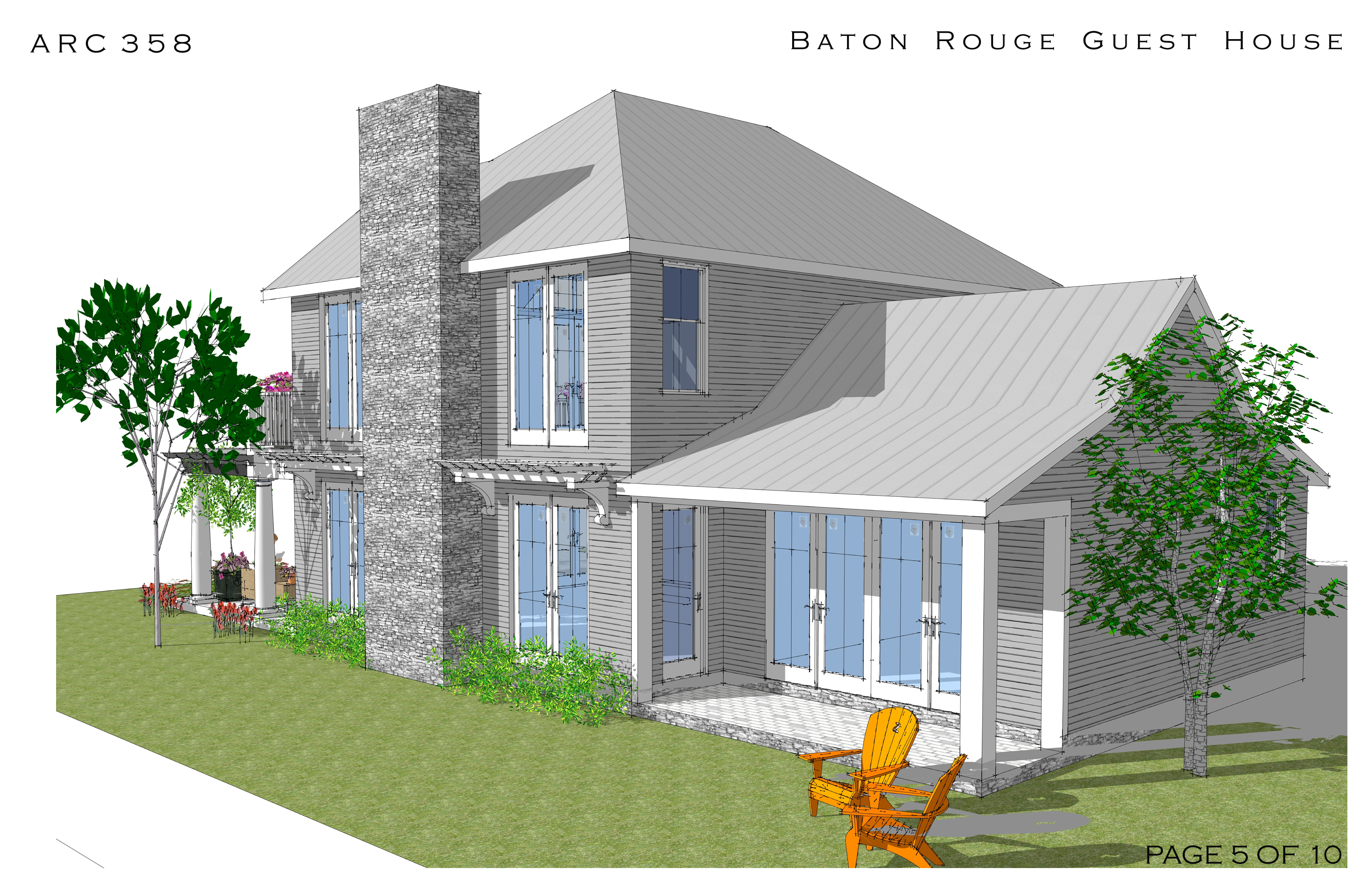 Home design project designed by arcadia design guest for Home design baton rouge