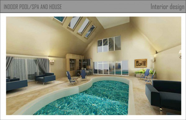 Image Indoor pool/spa and house