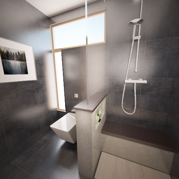Image Master bath - shower a...