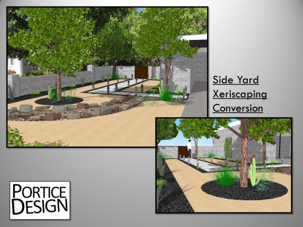 Overview of Side Yard ...
