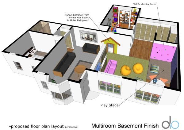 Image Multiroom Basement Finish