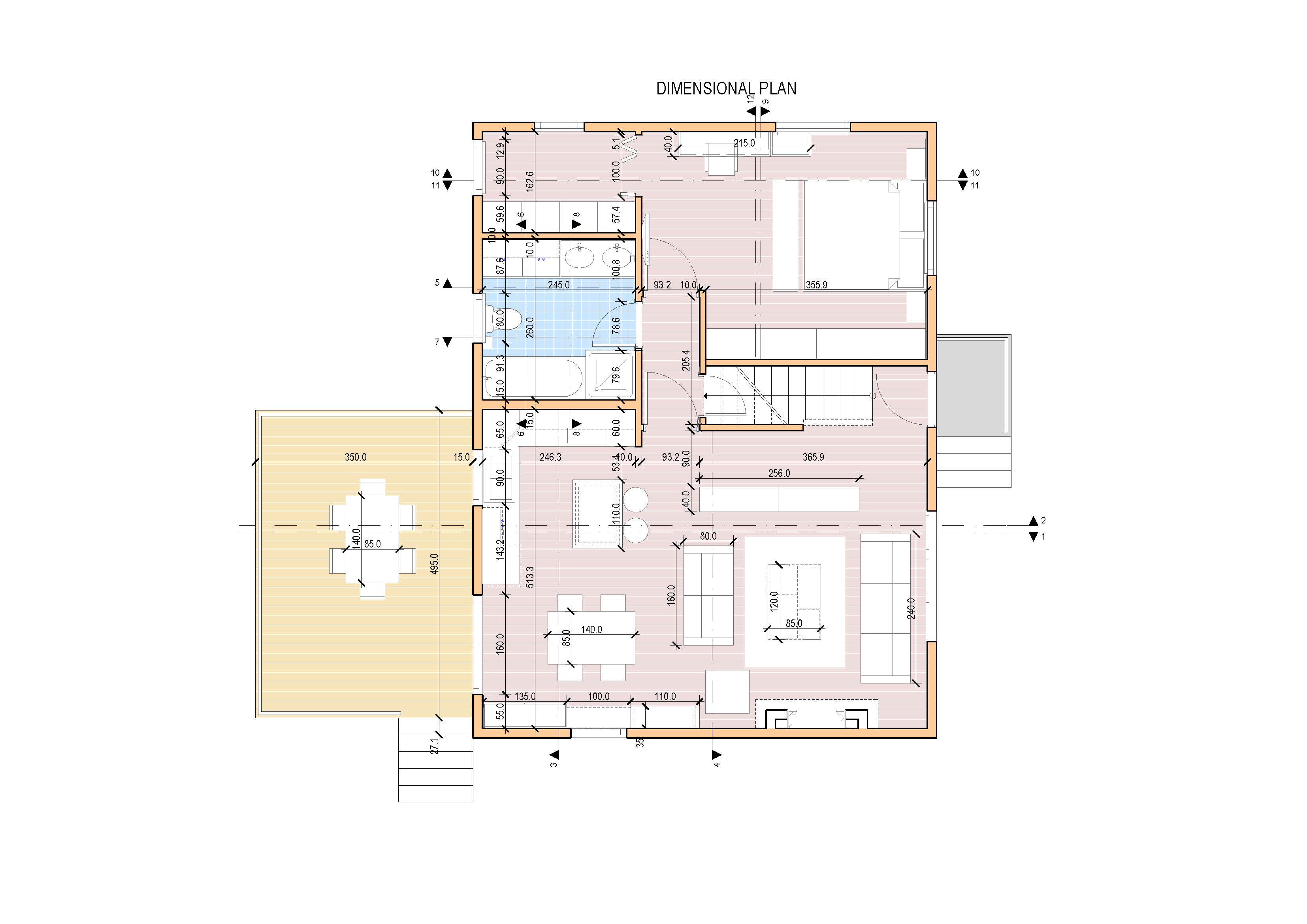 Entire floor design project designed by fovea rchitects for Open concept cape cod house plans