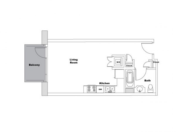 Image Floor plan of studio w...