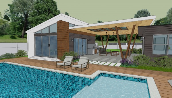 Image Covered Walkway / Pool...