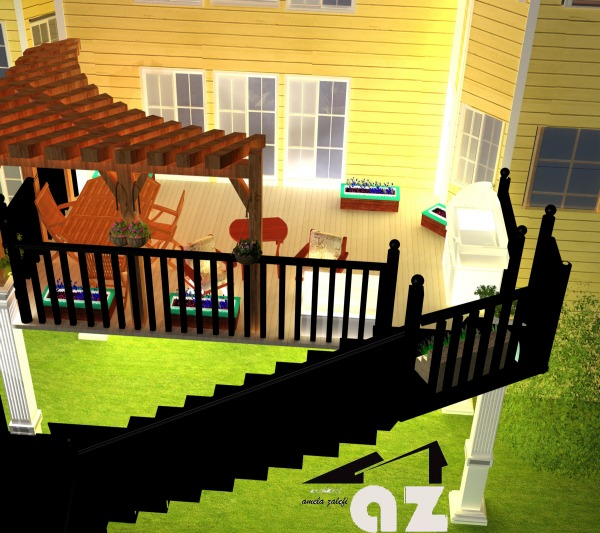 Image Deck Stairs Patio