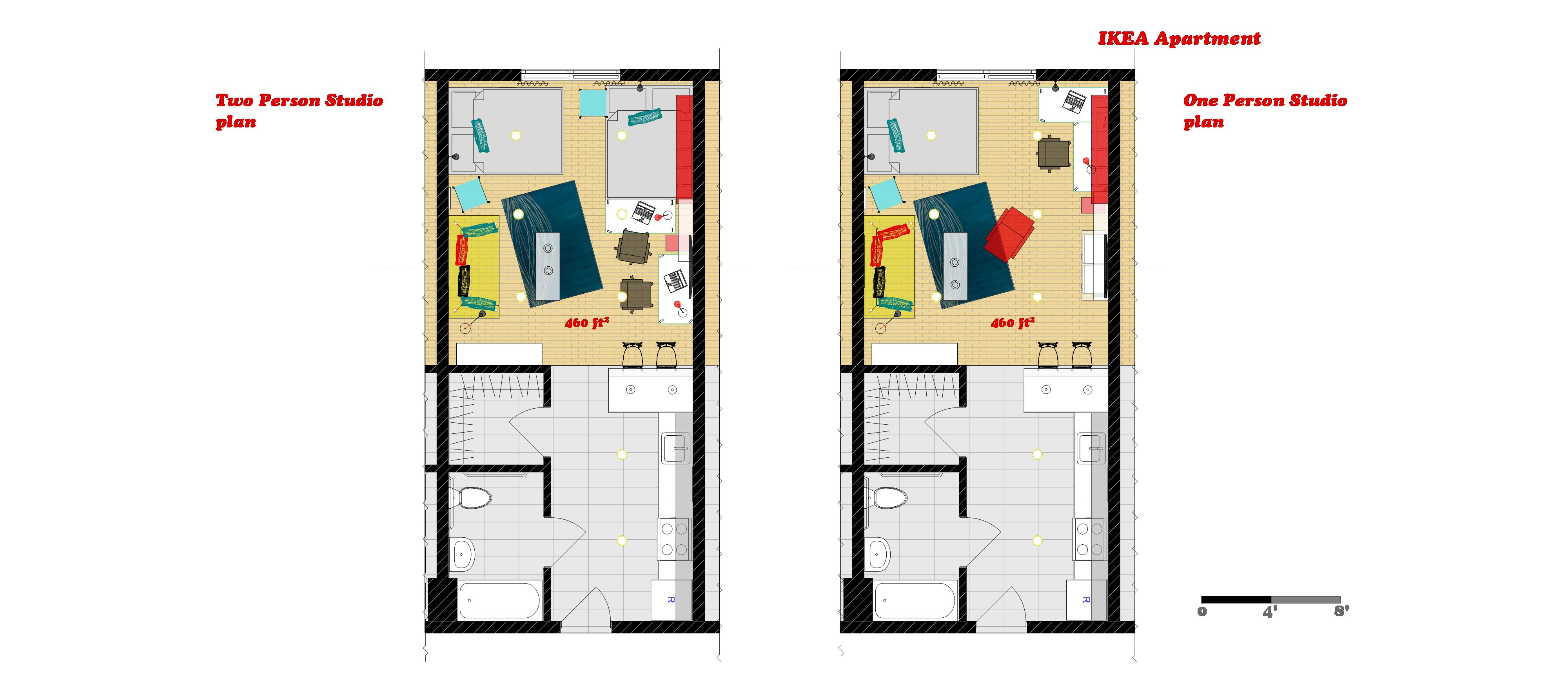 Apartment design ikea home design 2015 for Studio layout plan