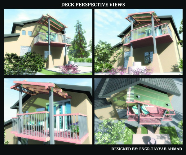 Image PERSPECTIVE VIEWS OF DECK