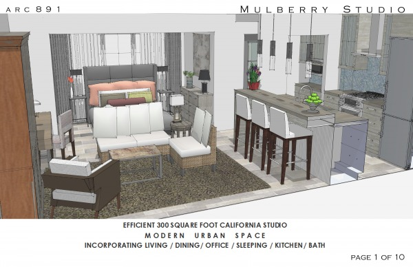 Other Designed By Arcadia Design Mulberry 300 Sq Ft Studio Apartment Los Angeles Us Arcbazar