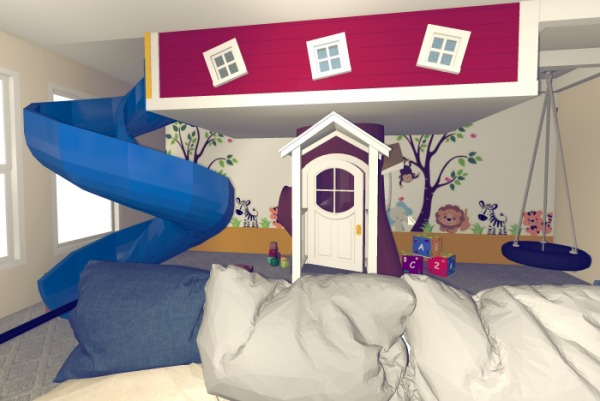 Image Fun Kids Play Room wit...
