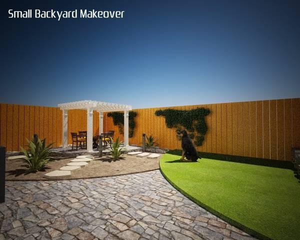Image Small Backyard Makeover