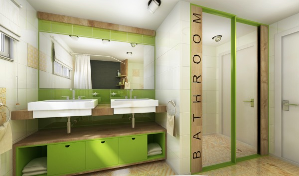 Image bathroom with laundry (2)
