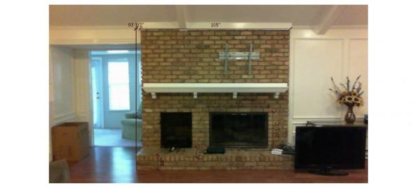 Image Facing fireplace.