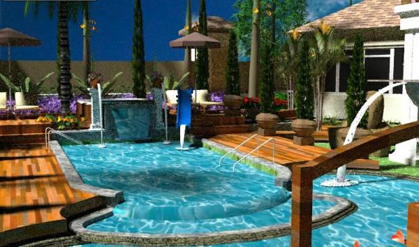 Image Swimming pool and gard...