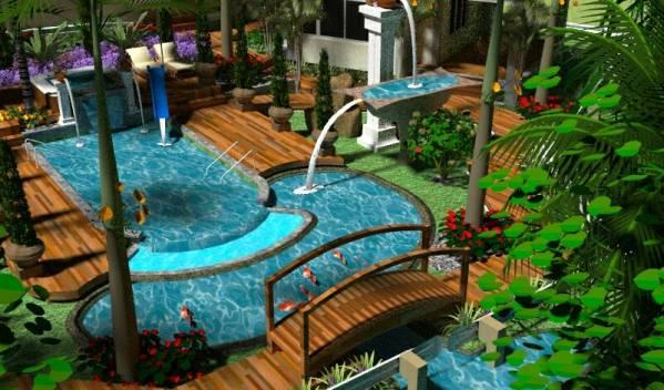Image Swimming pool and gard... (2)