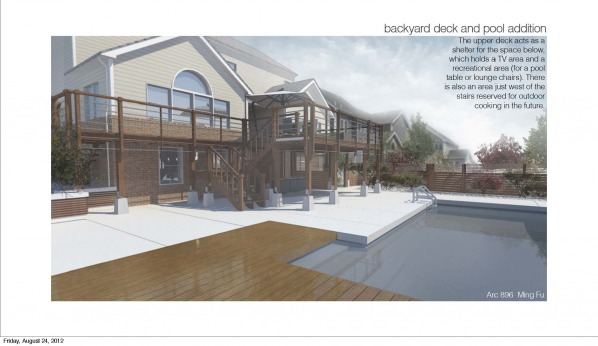 Image Backyard pool and deck
