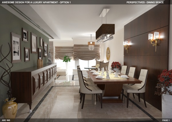 Option 1 - Dining area