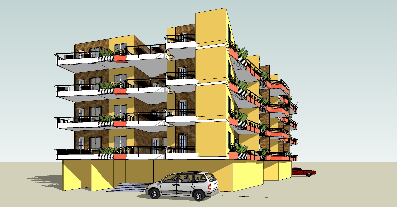 Apartment Building Plans Project designed by Ramy Osama ...