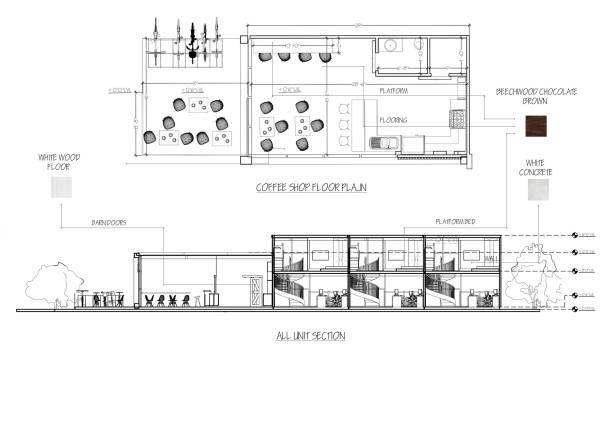 Image cofee shop plan and se...