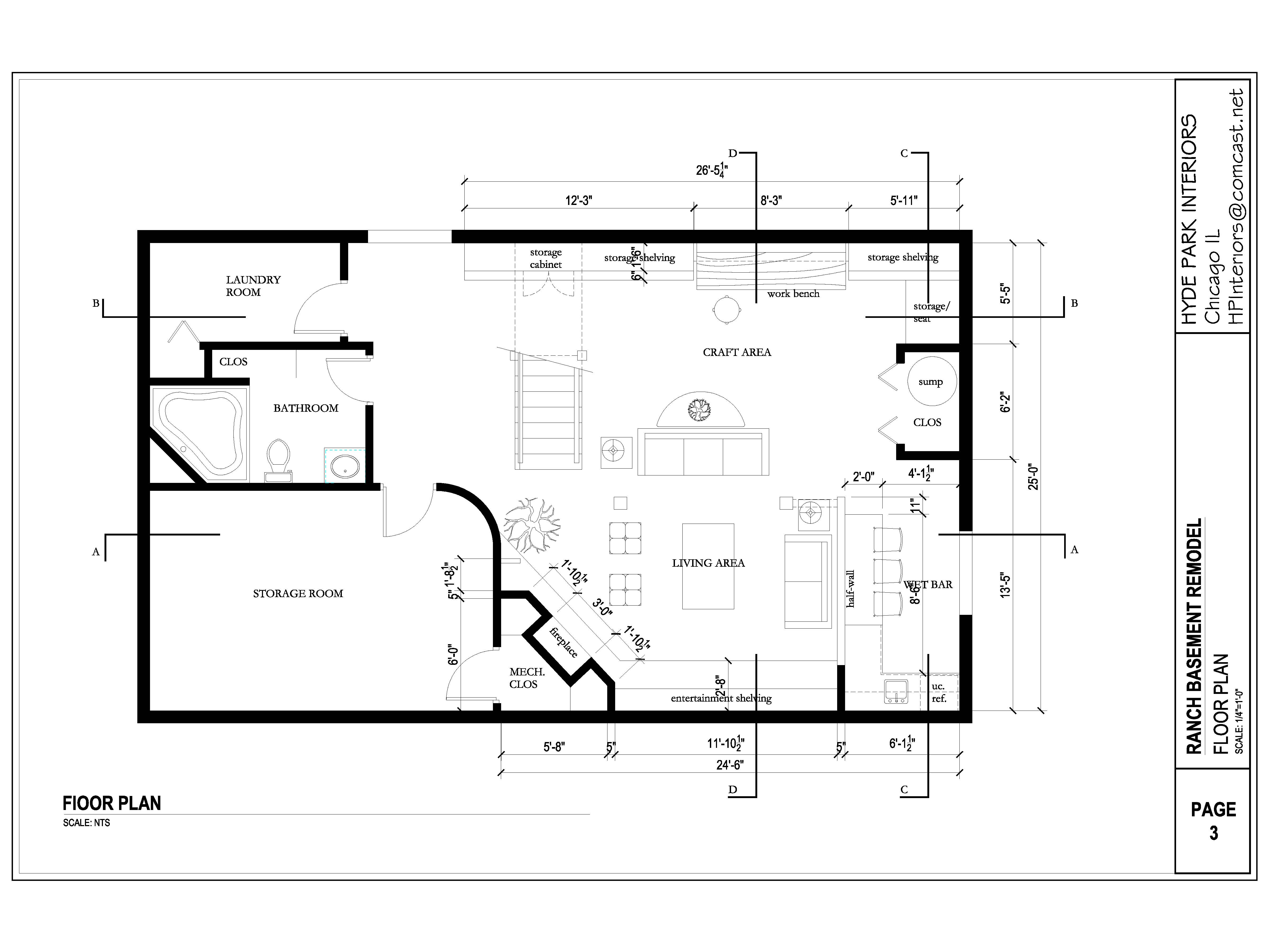 Viewdesignerproject projectbasement for Basement design layouts