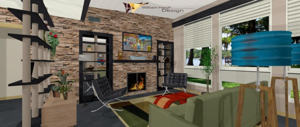 Image Midcentury modern home...