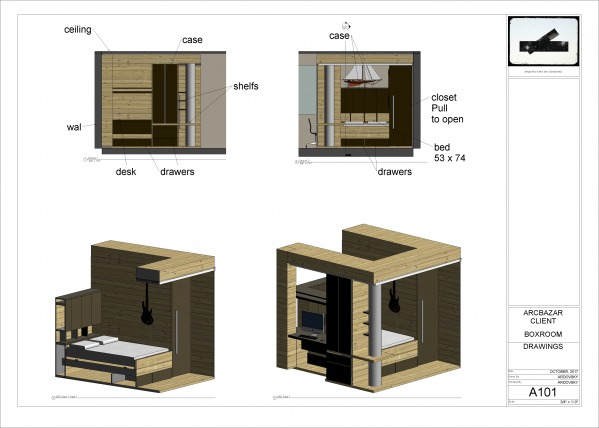 Bedroom Designed by Arquitectura sin Censuras - A bedroom in a box ...