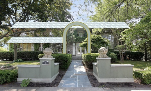 Copper sheathed arch i...