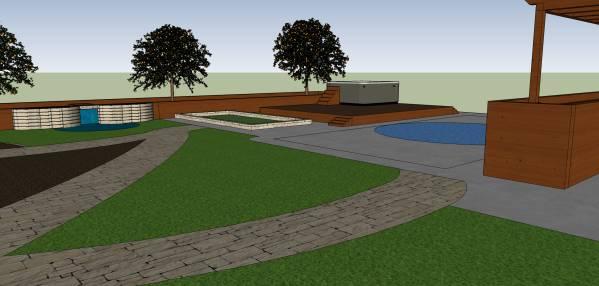 Image Deck, pool, walking pa...