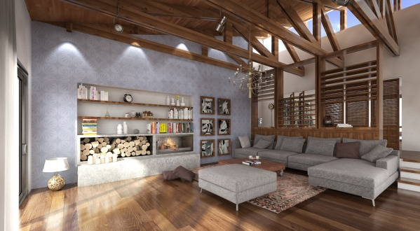 PERSPECTIVE - LIVING ROOM
