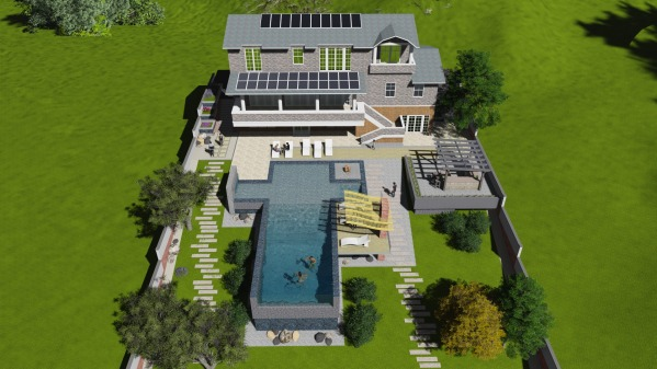 Image Modern Pool and Landsc...