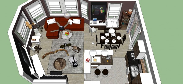 Image Open Kitchen, Living a... (1)