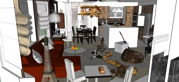 Image Open Kitchen, Living a...