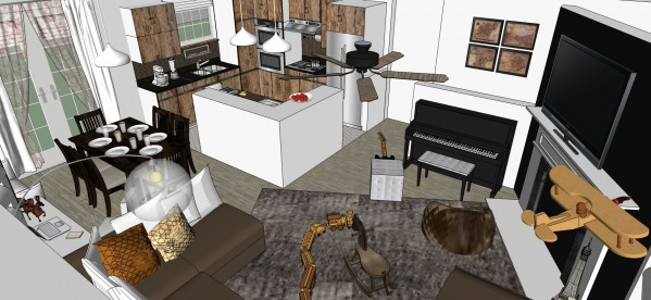 Image Open Kitchen, Living a... (2)