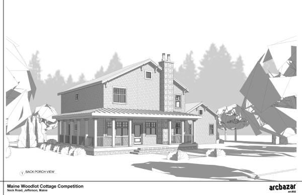Image Maine Woodlot Cottage ...