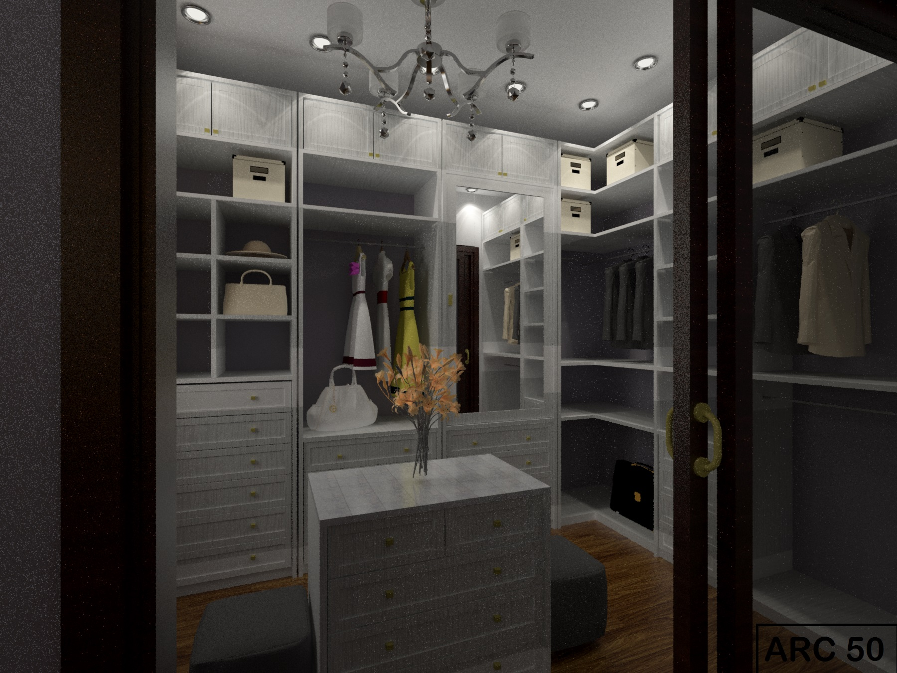 Master bedroom walk in closet designs elegance dream - Master walk in closet design ...
