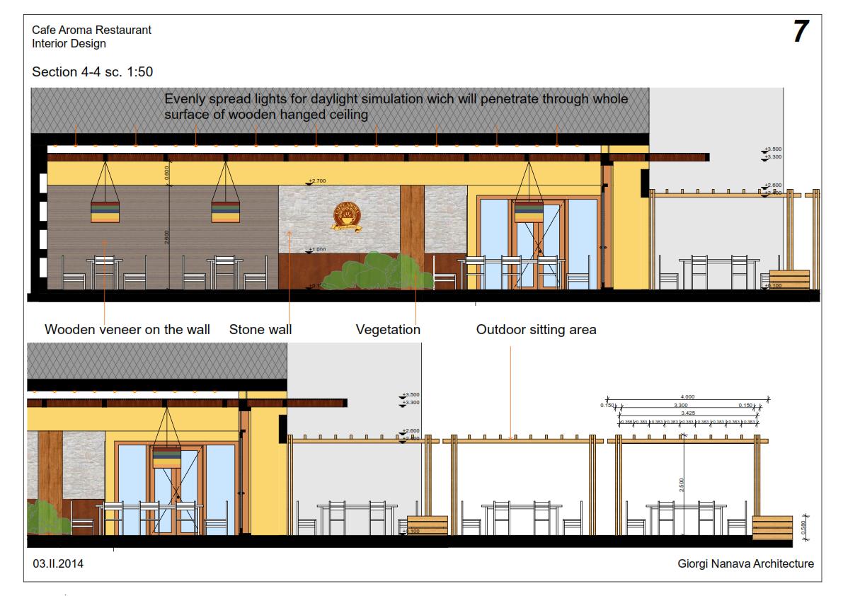 Modern Restaurant Front Elevation : Buat testing doang restaurant modern landscape entrance