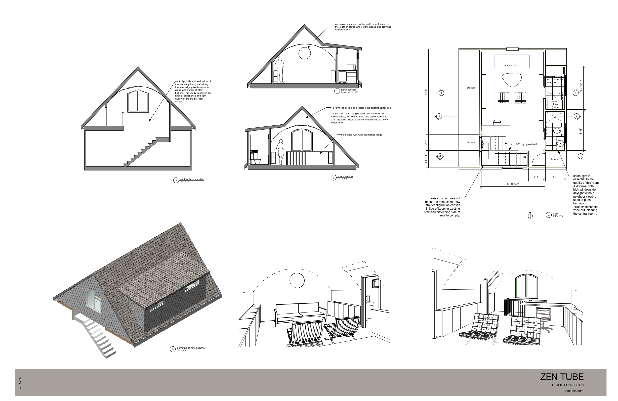 Viewdesignerproject Projectattic Conversion Designed By Jim Rounsevell  Architect Small Attic House Plans