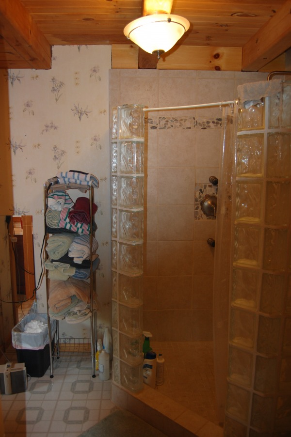 Image shower area from closet