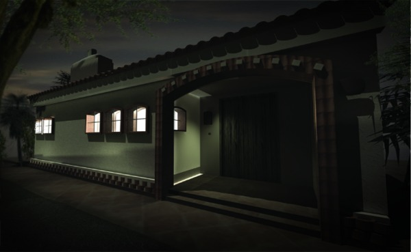 night time render