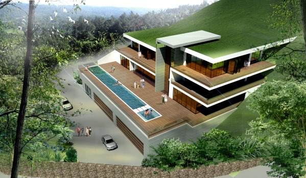 Single family homes designed by libra k hill slope for Building a house on a slope