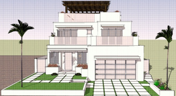 Image Modern Beach Home Land... (0)