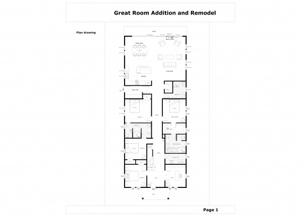 Entire floor designed by qarch team great room addition for Great room addition floor plans