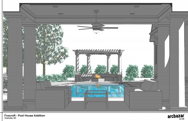 Craftsman Pool House A...