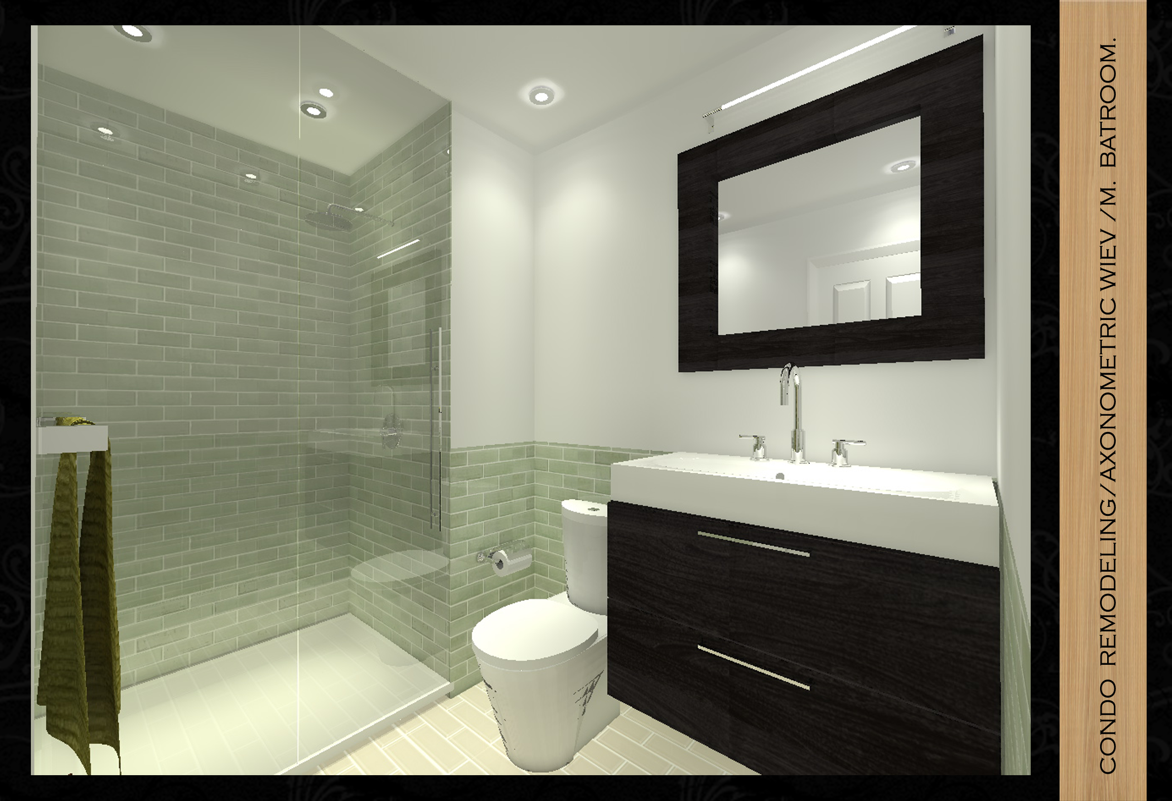 Viewdesignerproject projectkitchen design for Condo bathroom designs