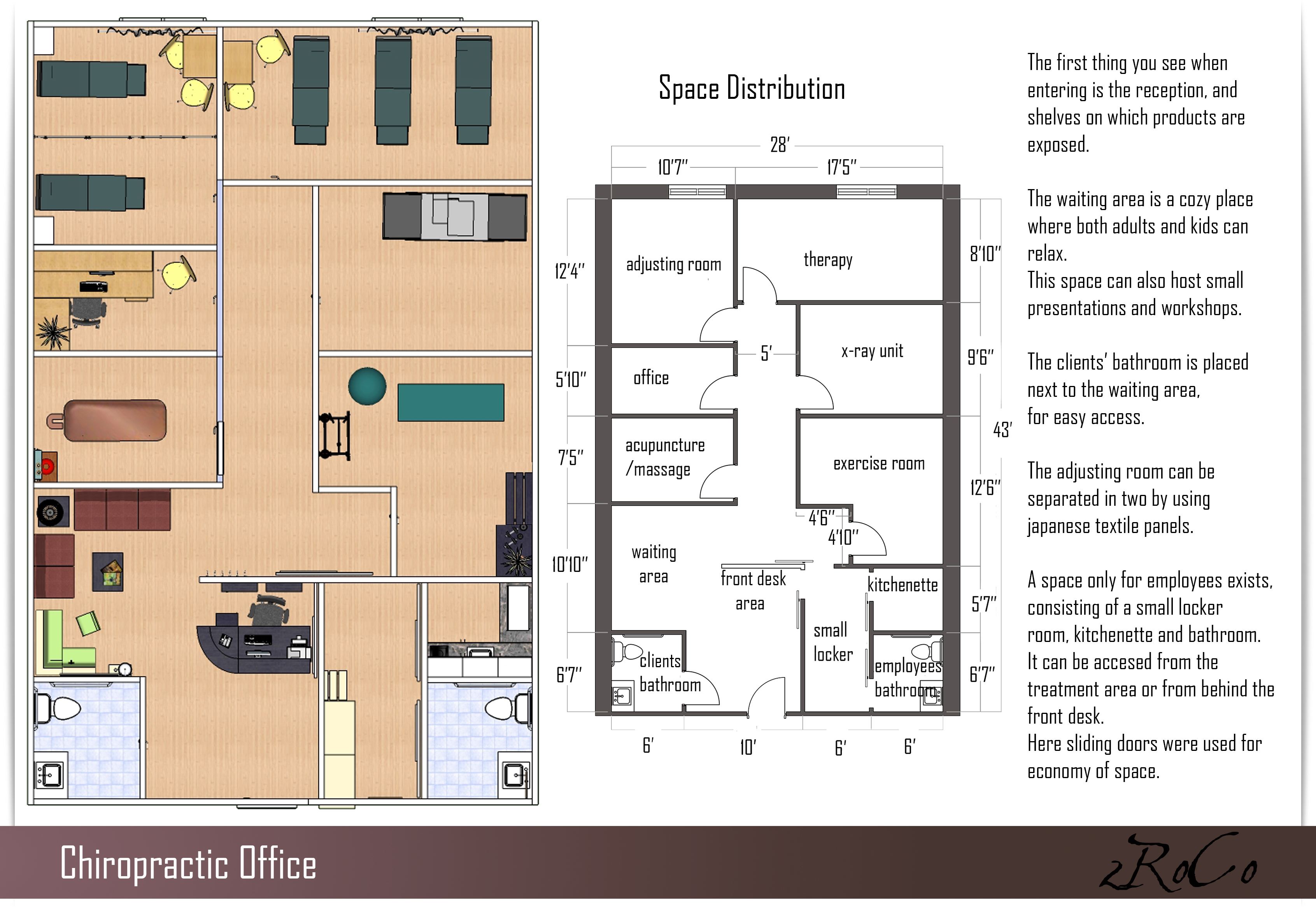 Chiropractic office layout design for Office desk layout planner
