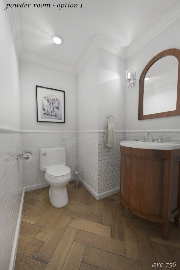 Image option 1 - powder room