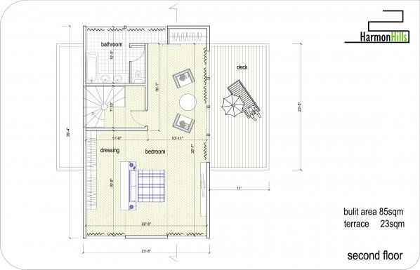 Single family homes designed by atelier 3 harmon hills for Family compound floor plans