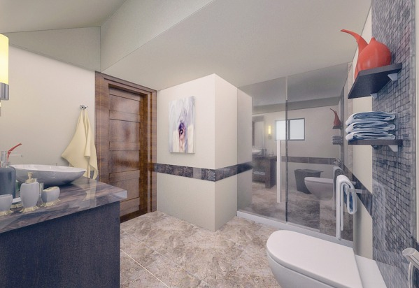 Image Ski House Bathroom - M...