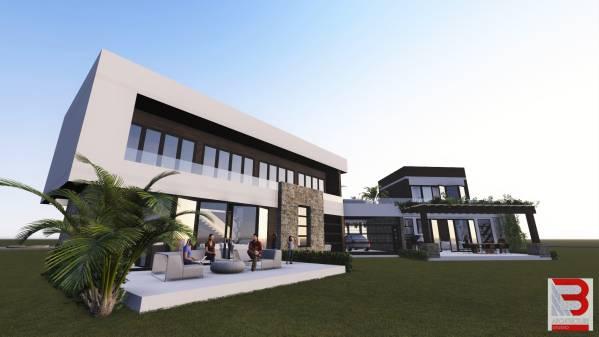 Image Villa A B back and gar...